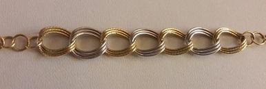 دستبند طلا دست دوم لوکس دورنگ