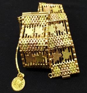 دستبند طلا دست دوم دو گله جلفایی